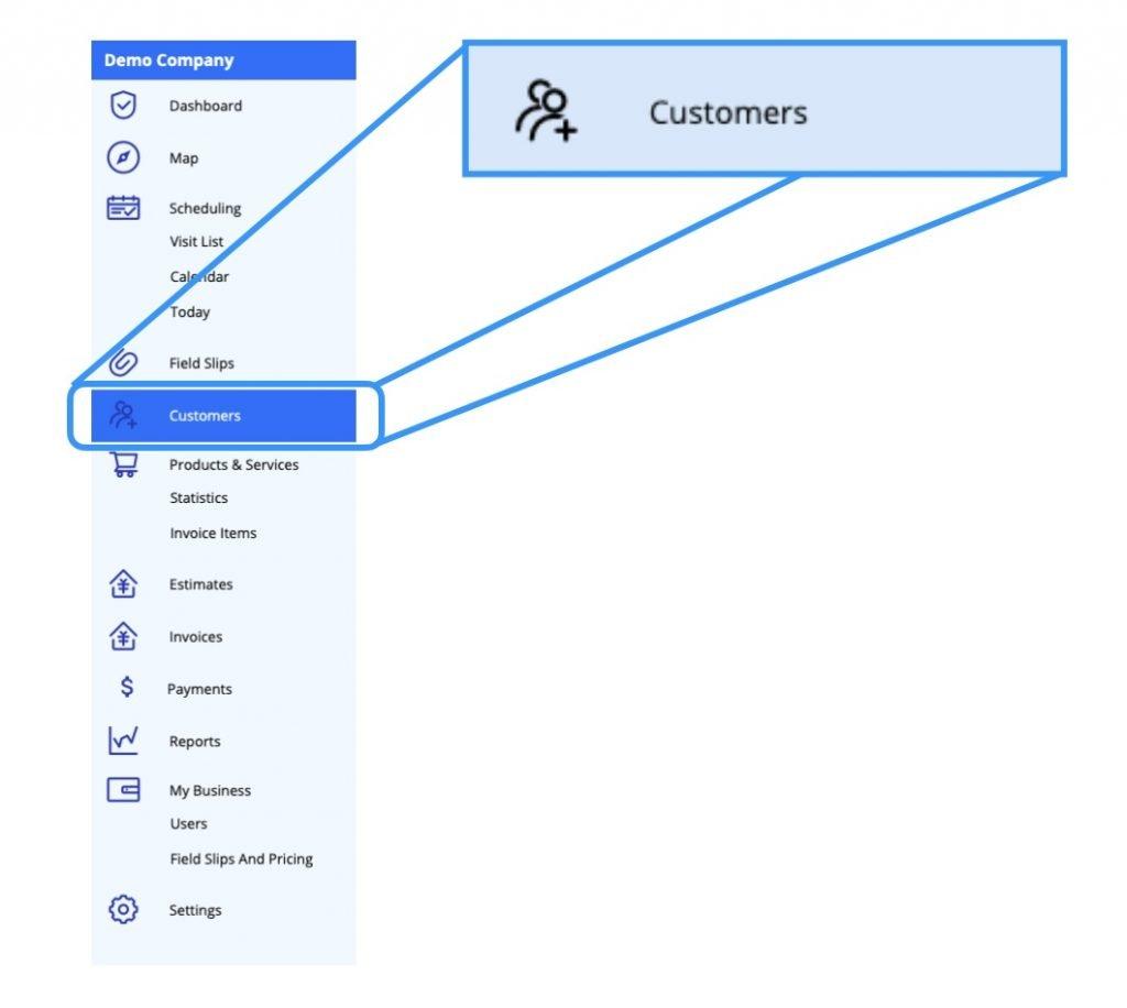 Ignition Software Customer Profile Navigation