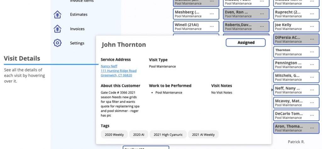 Ignition Software Visit Details